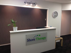 The reception at the Shore Therapy Browns Bay office